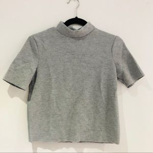 Zara Sweater Mock Turtle Neck Short-Sleeve